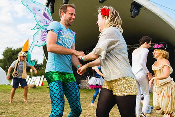 Barn dancing at Magical Festival