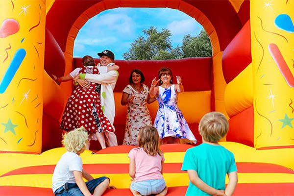 Bouncey castle at Magical Festival