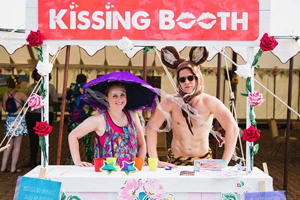 Kissing booth at Magical Festival