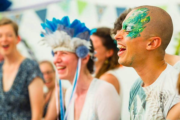 Laughter yoga at Magical Festival