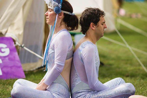 Meditation session at Magical Festival
