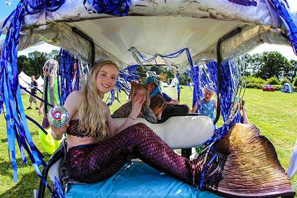 Mermaid parade at Magical Festival