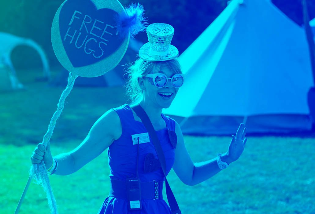 Happy volunteer working at Magical Festival