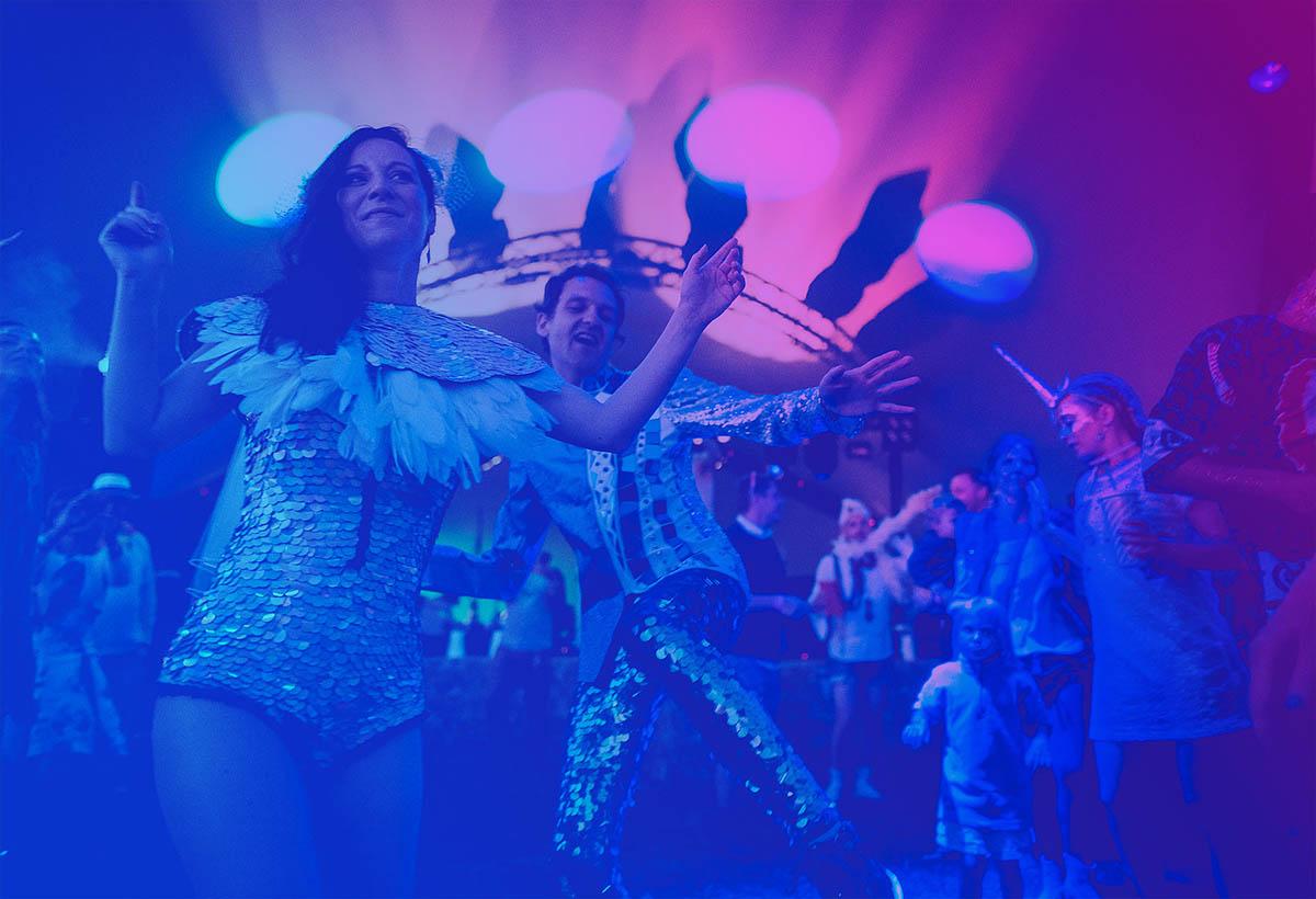 People dancing at Magical Festival