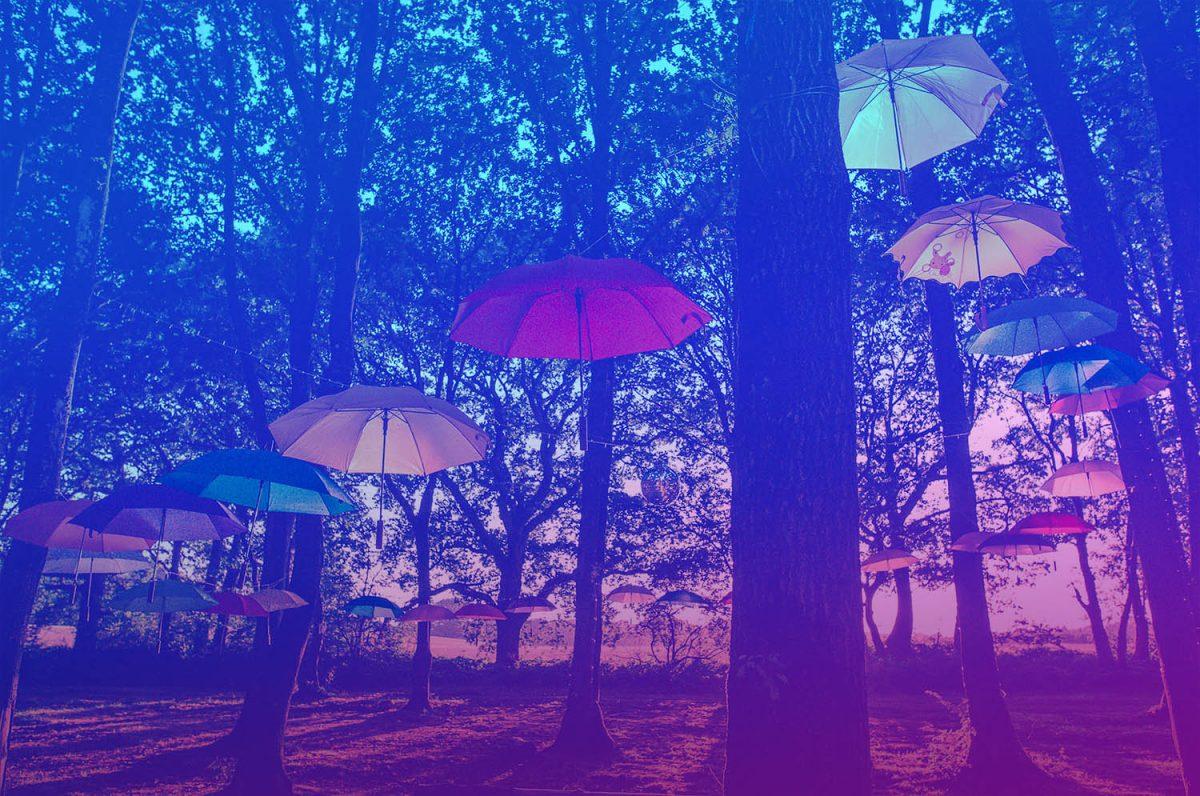 Umbrella Art Installation at Magical Festival
