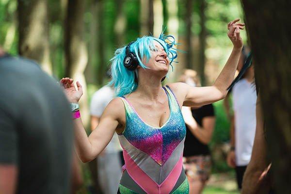 Ecstatic dancer at Magical Festival