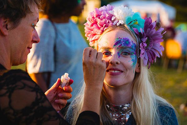 Face painting at Magical Festival