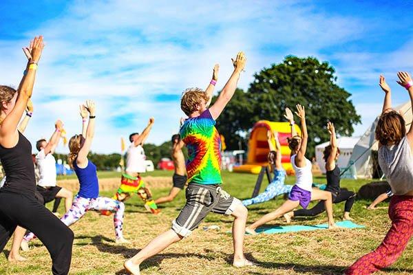 Yoga class at Magical Festival